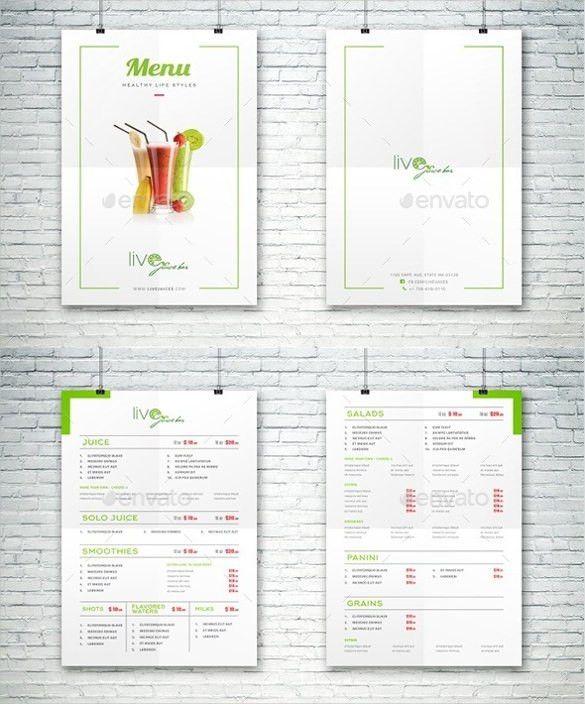 23+ Bar Menu Templates – Free Sample, Example Format Download ...