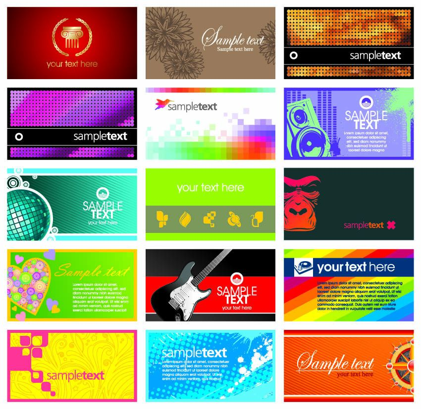 Card template vector the trend Free Vector / 4Vector