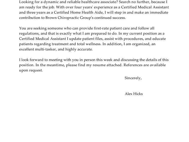 Cover Letter For Healthcare - Resume Templates
