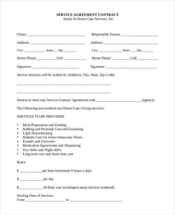 Sample Service Contract - 10+ Examples in PDF, Word