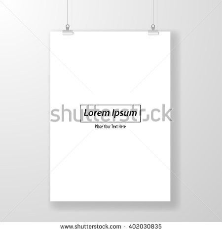 Poster Template Blank Paper Light Frame Stock Vector 311607704 ...