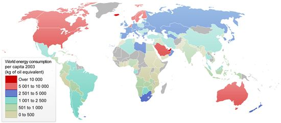 List of countries by energy consumption per capita - Wikipedia