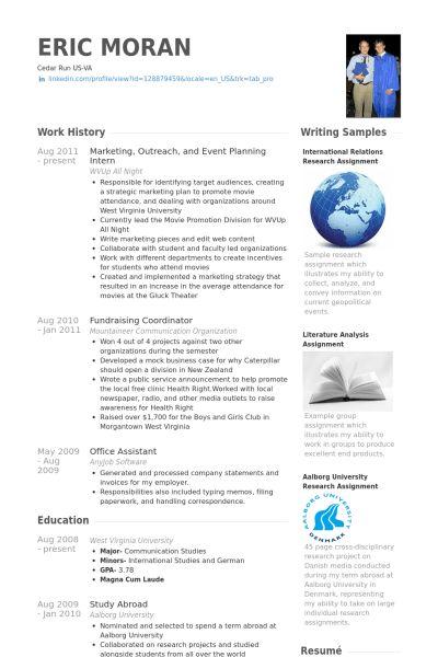Event Planning CV Örneği - VisualCV Özgeçmiş Örnekleri Veritabanı