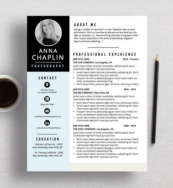 Resume Template | CV Template + Cover Letter | Microsoft Word AND ...