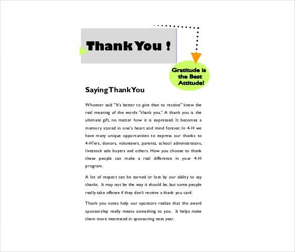 Christmas Thank You Note – 8+ Free Word, Excel, PDF Format ...