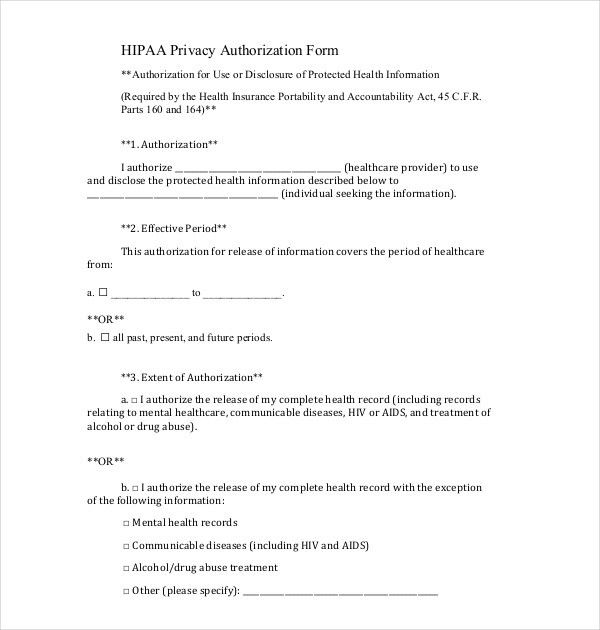 Hipaa Compliant Release Form. Generic Medical Records Release Form ...