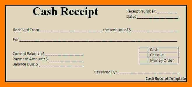 Money Receipt Design [Template.billybullock.us ]