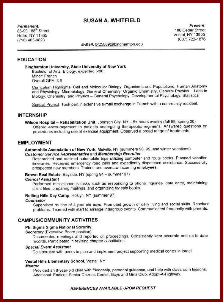 Example Resumes For Jobs. Proper Resume Job Format Examples Data ...