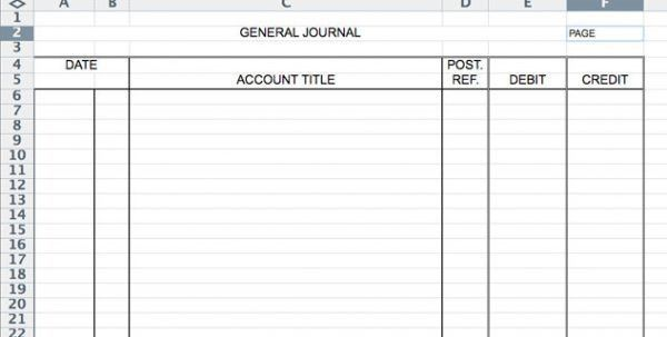 Accounting Journal Entry Template Accounting Journal Template ...