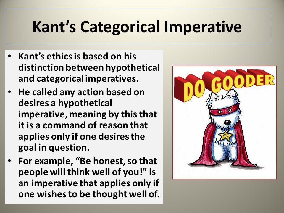immanuel kants categorical imperative