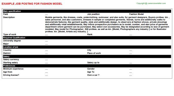 cover letter models sample fashion model cover letter model cover ...