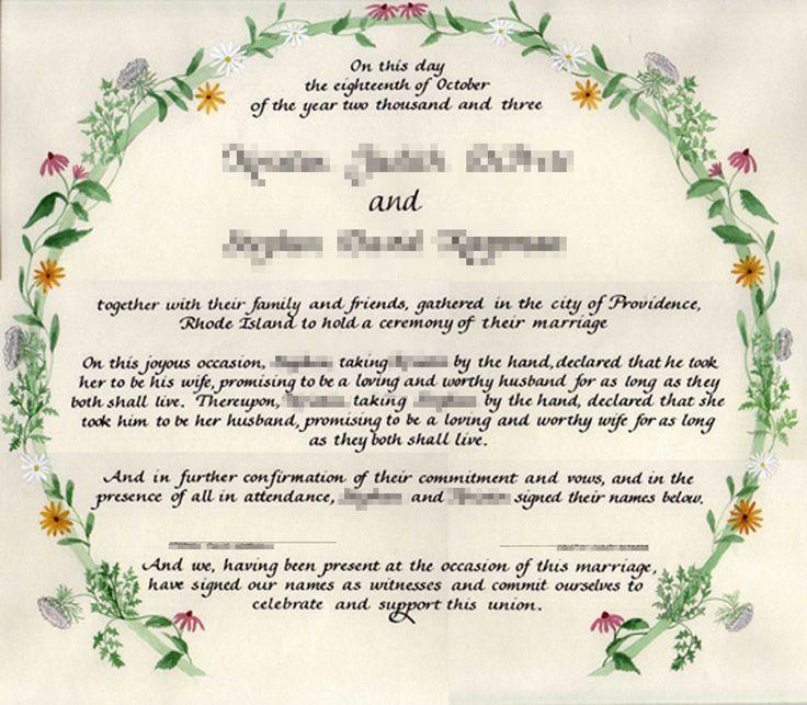 Best 25+ Wedding certificate ideas on Pinterest | Wiccan wedding ...