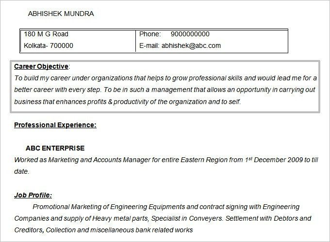 Objectives For Marketing Resume 14 Good Objective Sales Associate ...