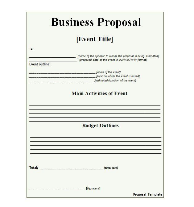 30+ Business Proposal Templates & Proposal Letter Samples