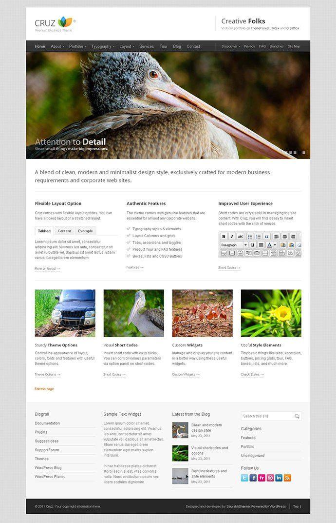 40 Minimalist WordPress Themes 2016 | Web & Graphic Design | Bashooka