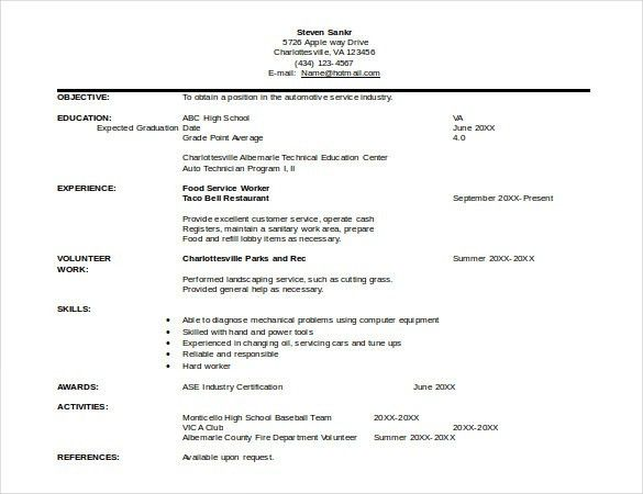 Automobile Resume Template – 22+ Free Word, PDF Documents Download ...