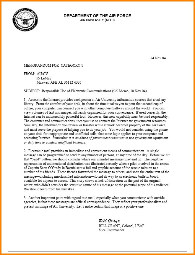 8+ policy memo examples - LetterHead Template Sample