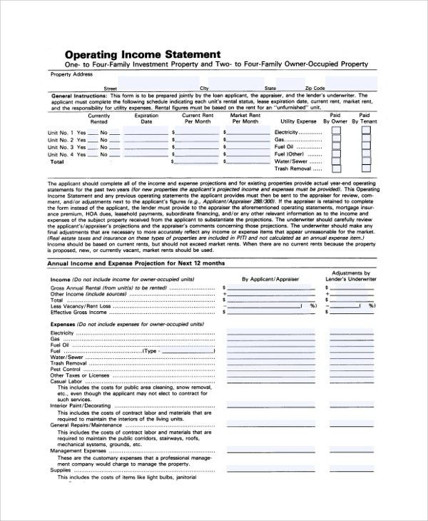 Sample Income Statement - 20+ Documents in PDF, Word, Excel