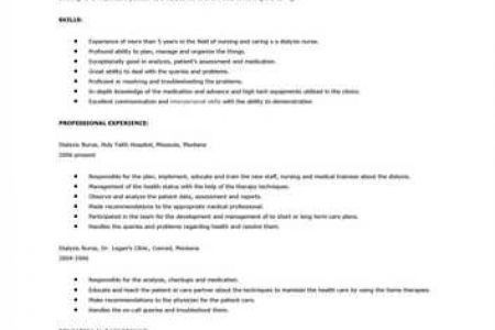 Dialysis Nurse Resume Sample. nurse resume samples 16 best 20 ...