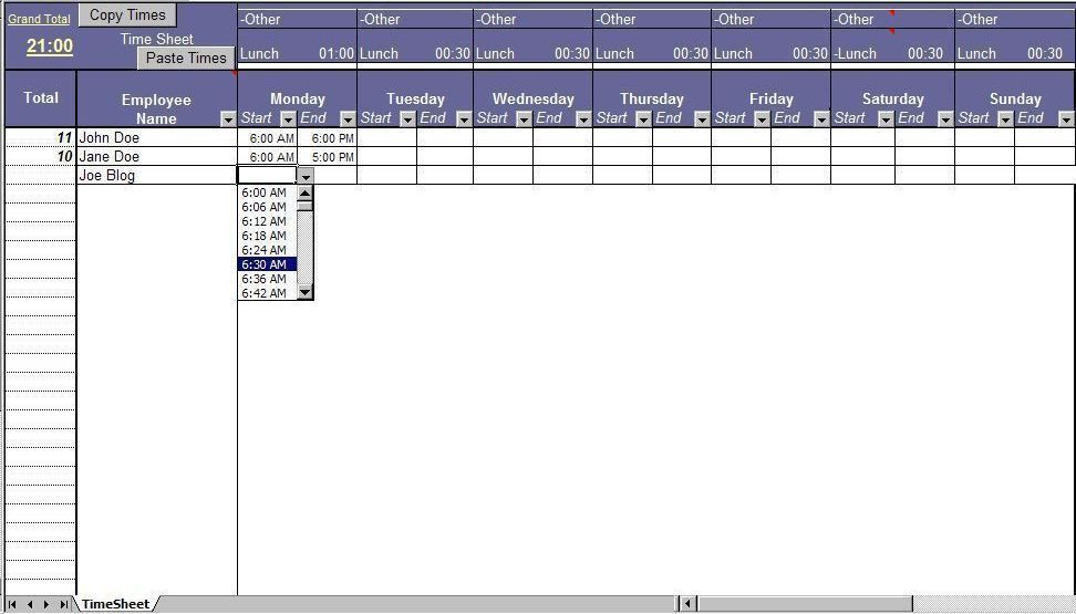 Timesheet. Excel Timesheet Template. Timesheet Standard & Advanced