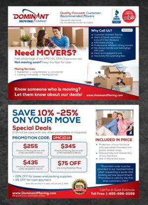 74 Masculine Elegant Moving Company Flyer Designs for a Moving ...