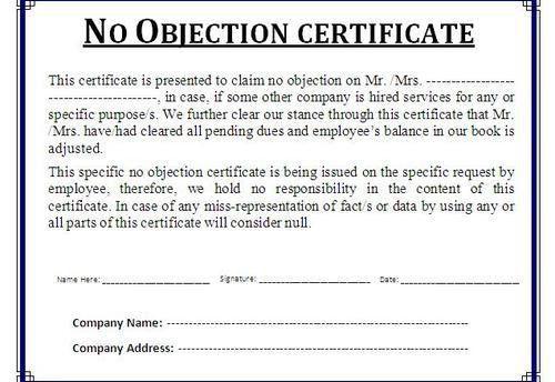 Noc Certificate Format In Pdf [Nfgaccountability.com ]