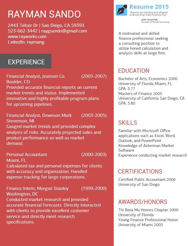 Latest Resume Templates to Use in 2015 http://www.resume2015.com ...