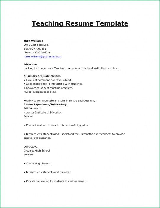 The Most Amazing Resume Format For Teachers Job | Resume Format Web