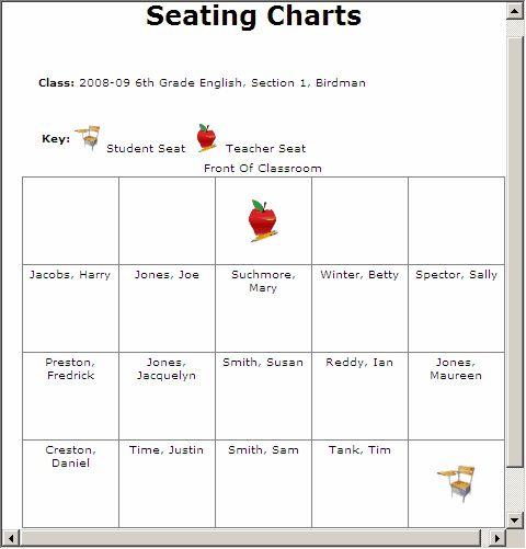Print Seating Chart