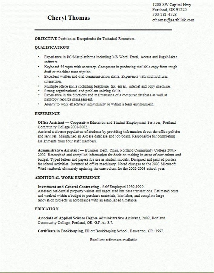 Communication skills for resume examples