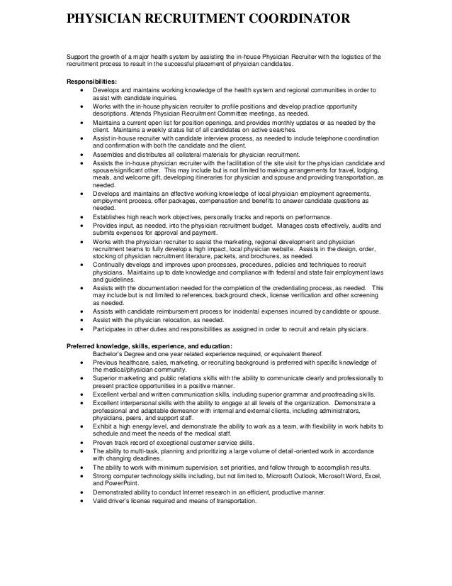 recruiting coordinator job description template recruiting ...