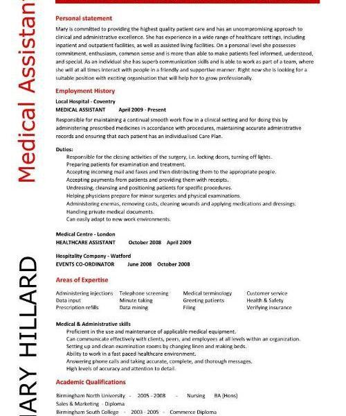 Majestic Looking Medical Resume Template 5 Medical Assistant ...