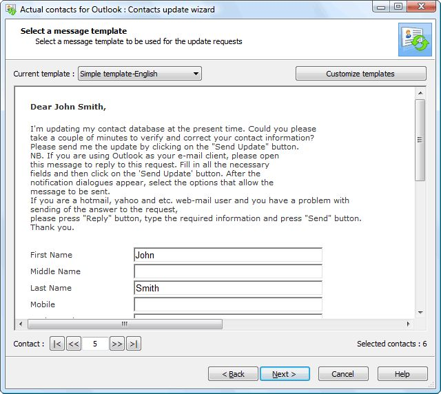 Update your Outlook address book - Actual Contacts plugin