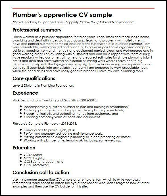 plumbing resume templates resume example unforgettable