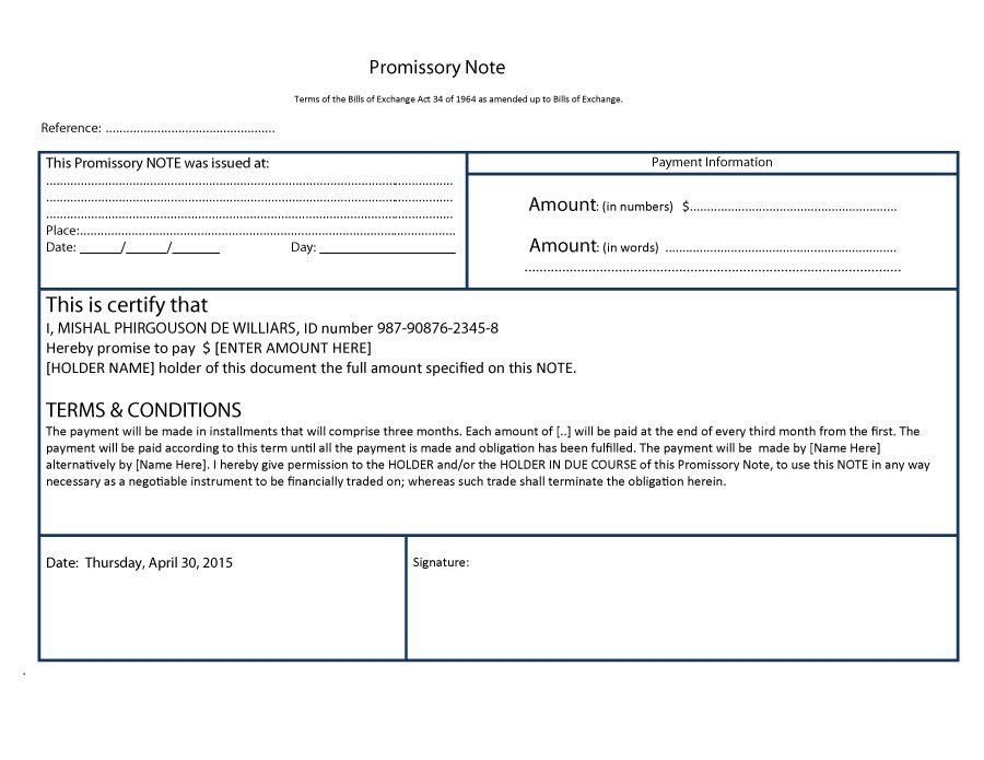 45 FREE Promissory Note Templates & Forms [Word & PDF] – Free ...