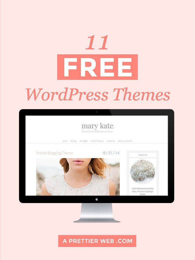 11 Free Feminine WordPress Themes - A Prettier Web