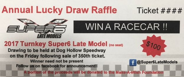 Annual Lucky Draw Raffle Ticket | Super6 Late Models