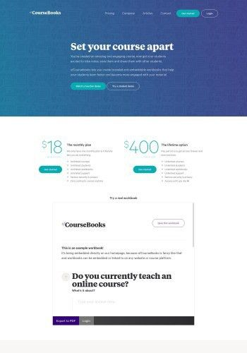 Examples of the Best Course Landing Page Designs   Landingfolio