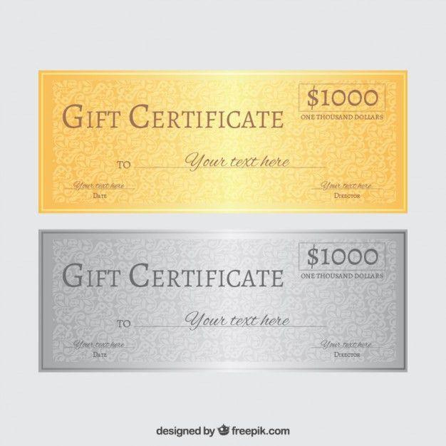 Gift certificate Vector | Free Download