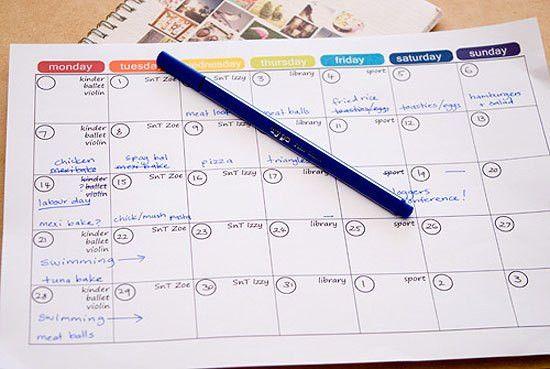 Monthly Menu Plan Printable - Picklebums