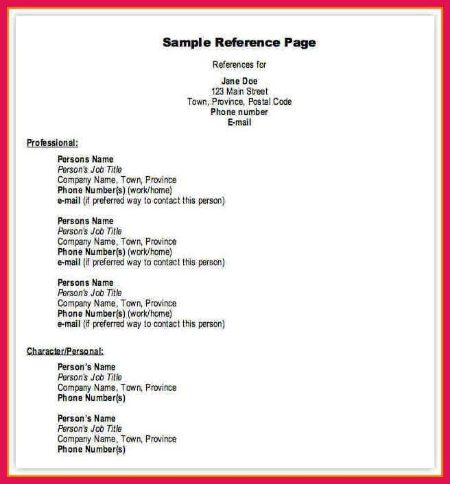 References Format Resume. resume references format resume badak ...