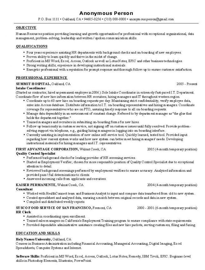 Entry Level Resume Templates. Pictures Entry Level Human Resource ...