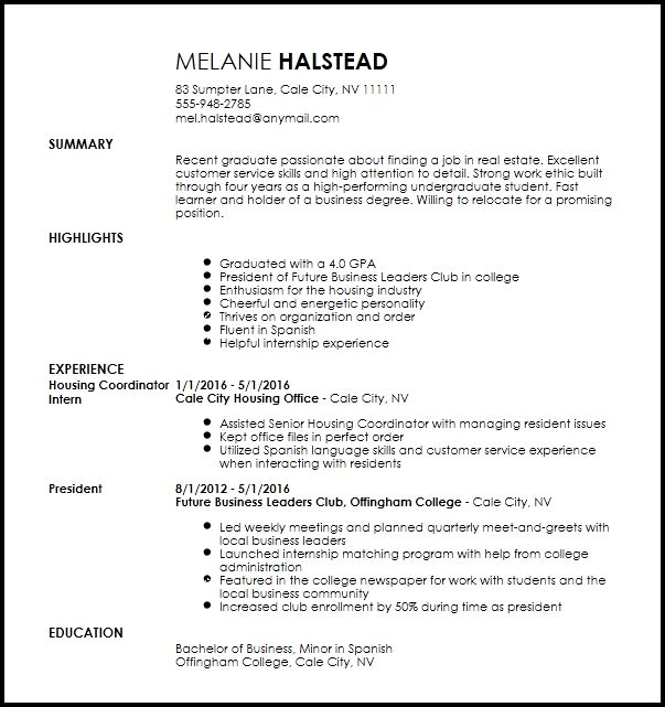 Housing officer cv sample tenancy management cv layout resume - Resume For Leasing Agent