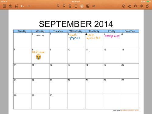 study schedule template