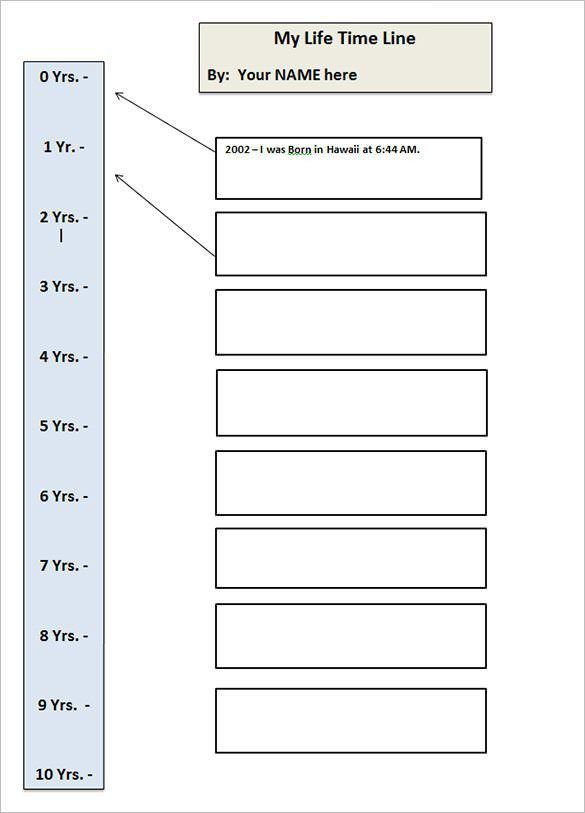 8+ Timeline Templates for Students – Free Sample, Example, Format ...