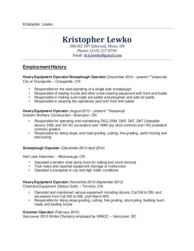 Kristopher Lewko Resume 2015