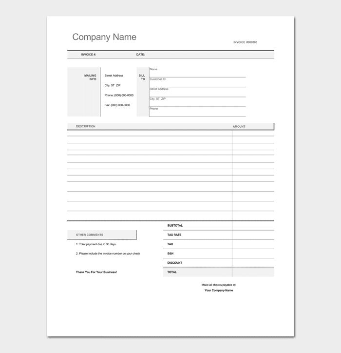 Freelance Invoice Template - 5+ For Word, Excel & PDF Format