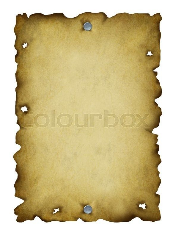 Old western blank wanted poster with antique metal nails and torn ...