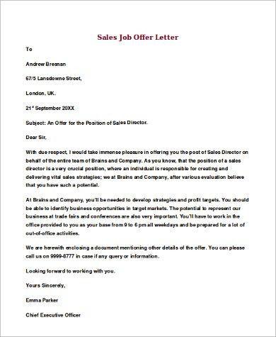 letter sample a sample declining job offer offer letters. job ...