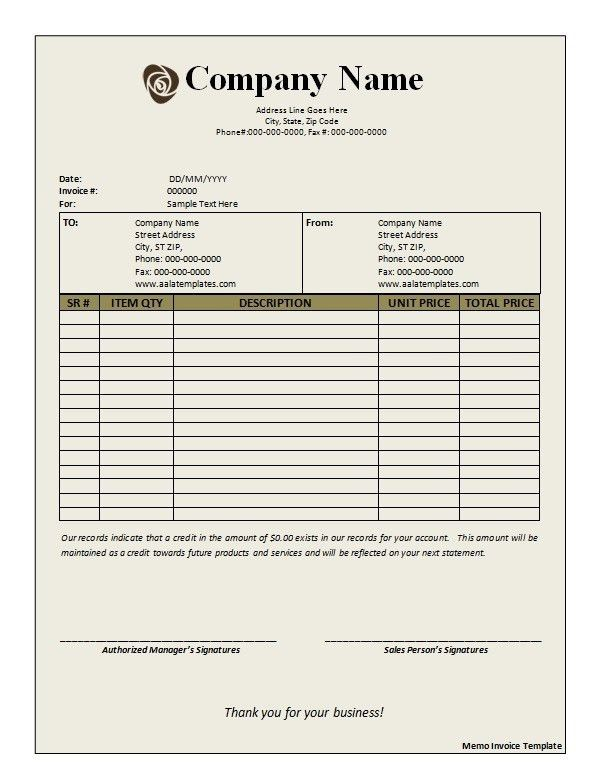 Occupyhistoryus Marvelous Free Printable Blank Invoice Templates ...